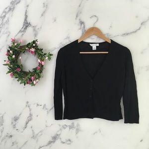 White House Black Market Linen Blend Cardigan